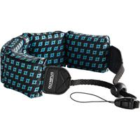 Olympus Fashion Float Strap for Stylus Tough Series Digital Cameras, Black with Blue Houndstooth Design