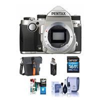 Pentax KP 24MP Compact TTL Autofocus DSLR Camera, Silver ...