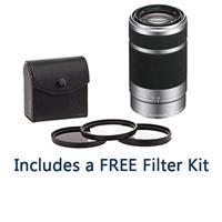 Sony 55-210mm f/4.5-6.3 OSS E-Mount Nex Camera Lens, Silv...