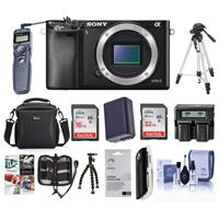 Sony Alpha A6000 Mirrorless Camera Body, Black - Bundle w...