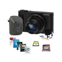 Sony DSC-HX90V Digital Camera, 18.2MP, Black - Bundle wit...