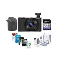 Sony Cyber-Shot DSC-RX100 Digital Camera, Black - Bundle ...