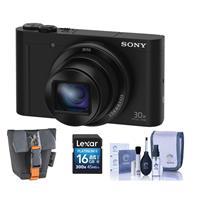 Sony Cyber-shot DSC-WX500 Digital Camera, 18.2MP Black, -...