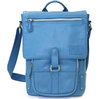 "Jill.e Emma Leather Laptop/Tablet Bag 11"" - Blue"