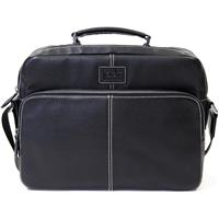 "Jill.e Jack Jeremy Leather Laptop Bag 13"" - Black"