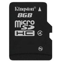 Kingston 8GB microSDHC Class 4 Flash Memory Card without ...