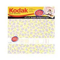 """Kodak Photo Memories 12X12"""" Scrapbook Designer Paper Pack - Spring Patterns Colors, 12 SHEETS."""