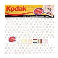 "Kodak Photo Memories 12X12"" Scrapbook Designer Paper Pack - Summer Patterns Colors, 12 SHEETS."