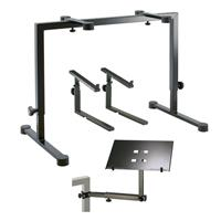 Omega Table-Style Keyboard Stand, Black - Bundle With K&M...