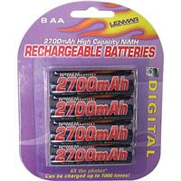 Lenmar AA Rechargeable Batteries, 1.21volt Nickel Metal H...