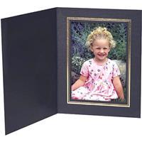 """Classic Black Portrait Folders for Vertical 4x6"""" Prints w..."""