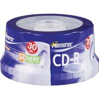 Disk CD-R 80 min. (52x) Branded Bulk 30 Pack, with Spindle,