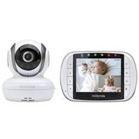 """Motorola MBP36S Remote Wireless Video Baby Monitor with 3.5"""" Color LCD Screen & PTZ Remote Camera, 2.4 GHz"""