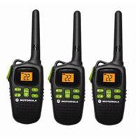 Motorola Radios, 22 Channels, 3 Pack, 20 Mile Range