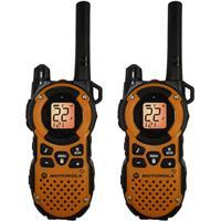 Motorola 2-Way Radios, 35 Miles Range, 22 Channels, Pair.