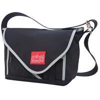 Manhattan Portage Small Flatiron Messenger Bag, Black/Bla...