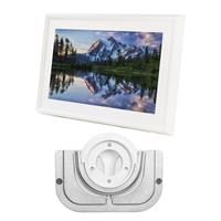 Canvas - Leonora White - With Meural Swivel Mount Frame W...