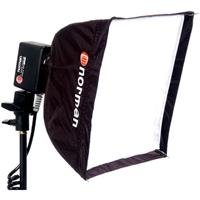 """NORMAN #SSB12BP, 12"""" Square Softbox for the Battery Opera..."""