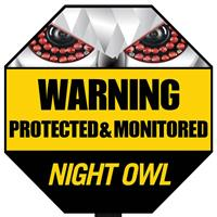 Night Owl Optics A-GYSS Reflective Outdoor Yard Stake Sign (Yellow/Black)