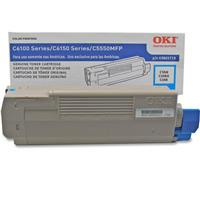 Oki 43865719 Cyan Toner Cartridge for C6150/MC560 Series ...