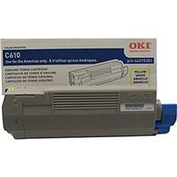 Oki 44315301 Yellow Toner Cartridge for C610 Series Print...