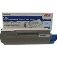 Oki 44315303 Cyan Toner Cartridge for C610 Series Printer...