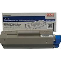 Oki 44315304 Black Toner Cartridge for C610 Series Printe...