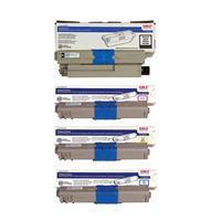 Oki MC362w Wireless MF Color Laser Printer Toner Bundle -...