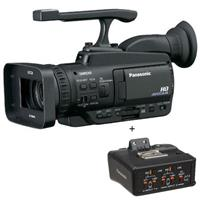 """AG-HMC40 3MOS Handheld Avccam Camcorder, 12X Optical Zoom, 2.7"""" LCD Monitor, SD Memory Card Slot, - With Panasonic XLR Microphone Adapter And Mount (741 Hours)"""