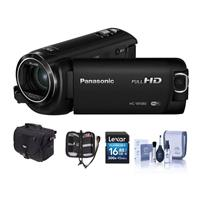 Panasonic HC-W580K Full HD Camcorder With WI-FI, BUILT-IN Multi Scene Twin Camera - Bundle With 16GB Sdhc Card, Camera Case, Cleaning KIT, Memory Wallet