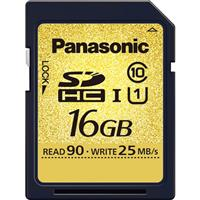 Panasonic UHS-1 Class 10 16GB SDHC Memory Card, 90MB/s Transfer Speed