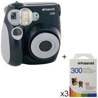 Pic 300 Instant Camera, Analog - Black Kit, with 3 - Pack...
