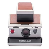 SX-70 Instant Film Camera, Silver and Brown