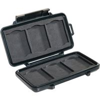 Pelican 0945 Memory Card Case for 6 CF Memory Cards, Black