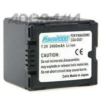Power-2000 CGA-DU21 Replacement Lithium-Ion 7.2v, 2400mAh Camcorder Battery for Panasonic CGA-DU21