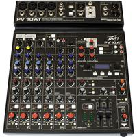 Peavey PV 10 AT Compact Pro Audio Mixer with Bluetooth an...