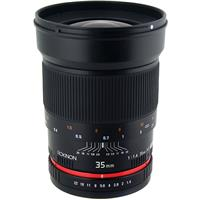 35mm f/1.4 Manual Focus Lens for Canon DSLR Cameras