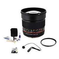 85mm f/1.4 Aspherical, Manual Focus Lens for Nikon DSLR C...