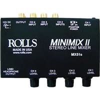 ROLLS Mini-Mix 2 Four-Channel Mixer with Individual Volum...