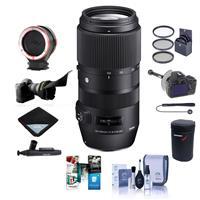 Sigma 100-400mm F5-6.3 DG OS HSM Lens for Nikon DSLR Cameras - Bundle With 67mm Filter Kit, Flex Lens Shade, Peak Lens Changing Kit Adapter, FocusShifter DSLR Follow Focus, Software Package, And More