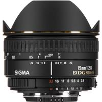 Sigma 15mm f/2.8 EX DG AutoFocus Diagonal Fish-Eye Lens f...