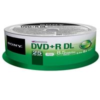 Sony 25DPR85SP DVD+R Dual Layer Media, 25 Pack