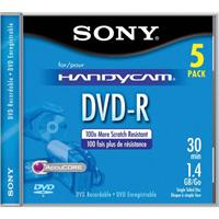 Sony 8cm DVD-R Recordable Camcorder Media, 1.4GB, Pack of 5