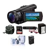 "Sony FDR-AX100 4K Ultra HD Camcorder with 1"" Exmor R CMOS..."