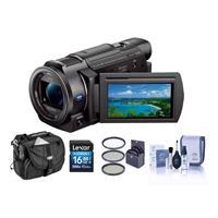 Sony FDR-AX33 4K Ultra HD Handycam Camcorder, Black - Bun...