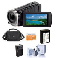 Sony HDR-CX455/B HD Camcorder with Exmor R CMOS Sensor - ...