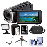 Sony HDR-CX455/B HD Camcorder - Bundle With Video Bag, 32...