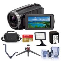 Sony HDR-CX675/B HD Camcorder Bundle With Video Bag, 32GB...