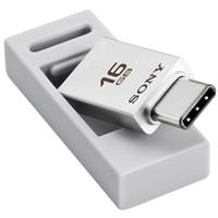 Sony USM-CA1 Series 16GB USB TYPE-C And TYPE-A Dual Connection Smartphone Flash Drive, Silver