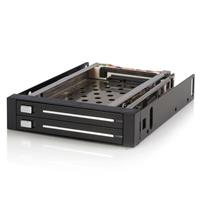 "Startech 2 Drive 2.5"" Trayless Hot Swap SATA Mobile Rack ..."